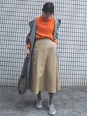 ヤマサキ サオリさんの「巾着トートバッグ(ADAM ET ROPE'|アダム エ ロペ)」を使ったコーディネート