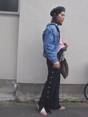 ヤマサキ サオリさんの「【BAILA3月号掲載】 6cmヒールポインテッドトゥパンプス(titivate|ティティベイト)」を使ったコーディネート