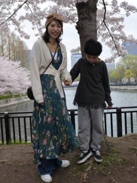 cmworks's STORE|ヤマサキ サオリさんの「ウールベルト付リブカーディガン(ADAM ET ROPE'|アダム エ ロペ)」を使ったコーディネート