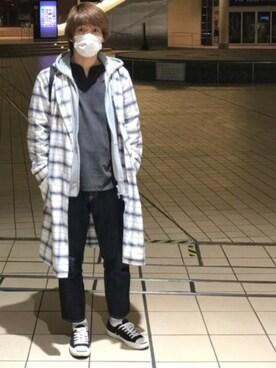 makoさんの「BY ドロップ チェック ガウンо(BEAUTY&YOUTH UNITED ARROWS)」を使ったコーディネート