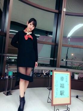 飯窪春菜さんの「オーナメントスカーフ(coen|コーエン)」を使ったコーディネート