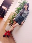 飯窪春菜さんの「ストラップパンプス(Fashion Letter|ファッションレター)」を使ったコーディネート
