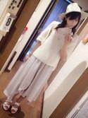 藍澤慶子さんの「ロングアシンメトリースカート/723721(JEANASIS|ジーナシス)」を使ったコーディネート