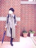 YUKIさんの「[GIORDANO]ロングアンブレラ(GIORDANO ジョルダーノ)」を使ったコーディネート