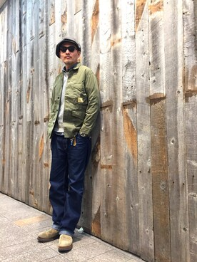 Schott Kobe|matsuuraさんの「Schott/ショット/FATIGUE COVERALL JACKET/ファティーグ カバーオール ジャケット(schott)」を使ったコーディネート