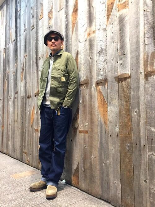 matsuuraさんの「Schott/ショット/FATIGUE COVERALL JACKET/ファティーグ カバーオール ジャケット(schott)」を使ったコーディネート