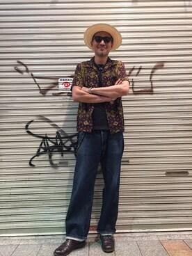 Schott Kobe|matsuuraさんの「Schott/ショット/HAWAIIAN SHIRT BANDANA/ハワイアンシャツ バンダナ(schott)」を使ったコーディネート