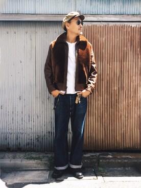 Schott Kobe|matsuuraさんの「Schott/ショット/HENLEY NECK TSHIRT/ヘンリーネック Tシャツ(schott)」を使ったコーディネート
