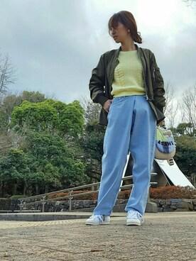 ♡meicai♡さんの「FLARE DOCKING MA-1(AMERI)」を使ったコーディネート