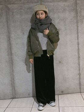 yuiさんの「ウールカシミヤストール(ZUCCa|ズッカ)」を使ったコーディネート