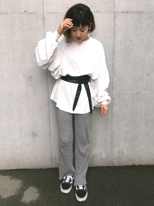 yuiさんの「度詰めボリュームプルオーバー(Ciaopanic)」を使ったコーディネート