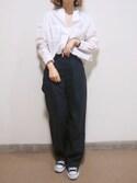 yuiさんの「ウエストベルトツキコクーンパンツ(LEPSIM|レプシィム)」を使ったコーディネート