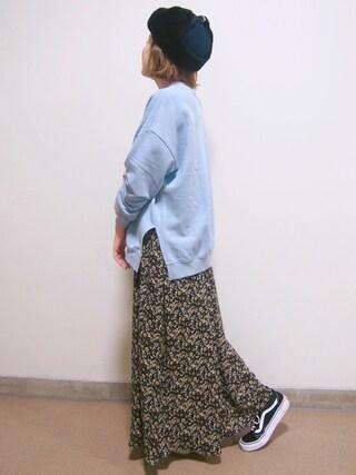 「フェミニンプリントロングスカート(LEPSIM)」 using this yui looks