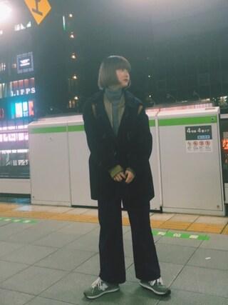 梅村奈央さんの「(GU)ワイドアンクルパンツA(GU|ジーユー)」を使ったコーディネート