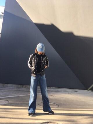 梅村奈央さんの「アディダス ハート柄 ジャージ <GRAPHIC TT>(adidas originals|アディダスオリジナルス)」を使ったコーディネート