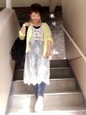 「【mina10月号掲載】【mina7月号掲載】【再入荷】【ZOZOワンピースランキング1位獲得】総フラワーレースロング丈キャミワンピース(MOCA)」 using this トト looks