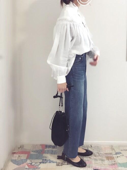 AMEさんの「SCYE リネン高密度タックシャツ◆(IENA)」を使ったコーディネート