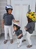 3BOYS⑅◡̈*さんの「RIO/リオ EVA (KIDS)(BIRKENSTOCK|ビルケンシュトック)」を使ったコーディネート