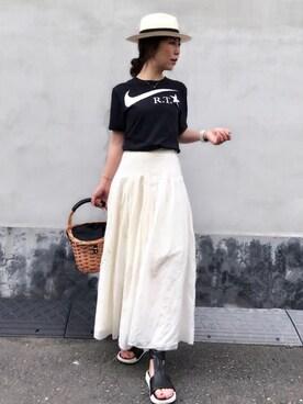 Bijouterie euro flat|acoさんの「ナイキラボ リカルドティッシ Tシャツ ブラック(nike lab)」を使ったコーディネート