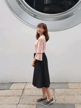 「ジャージークロップドスカンツ(UNIQLO)」使用Clara Kao的搭配