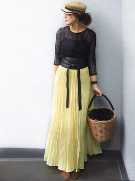 DRWCYS NICOさんのスカート「シャンブレープリーツスカート(DRWCYS ドロシーズ)」を使ったコーディネート