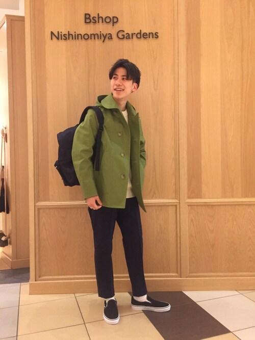 Tanakaさんの「2WAY 丸襟コート MEN(ORCIVAL)」を使ったコーディネート