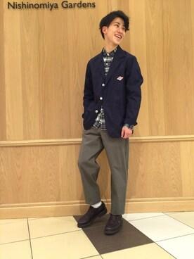 Bshop 西宮ガーデンズ店|Tanakaさんの「テーラードジャケット MEN(Danton)」を使ったコーディネート