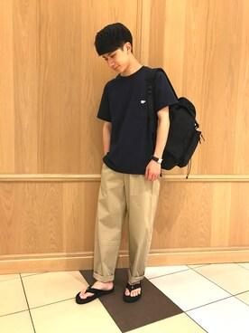 Bshop 西宮ガーデンズ店|Tanakaさんの「<別注> ポケットTシャツ MEN(Scye)」を使ったコーディネート