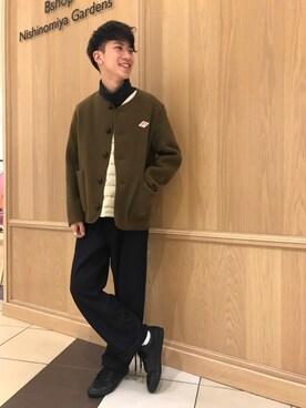 Bshop 西宮ガーデンズ店|Tanakaさんの「ウールモッサ シングルジャケット MEN(Danton)」を使ったコーディネート