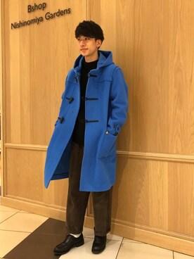 Bshop 西宮ガーデンズ店|Tanakaさんの「【ORCIVAL(オーシバル)】ヘリンボーンダッフルコート MEN(ORCIVAL)」を使ったコーディネート