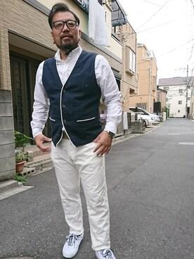 神田誠二さんの(CASIO)を使ったコーディネート
