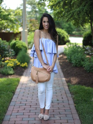 「Nordstrom Collection Skinny Jeans (White)(Nordstrom)」 using this shell looks
