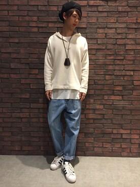 RAGEBLUE町田モディ店|tamuraさんのハンチング/ベレー帽「ウール混ベレー/742145(RAGEBLUE|レイジブルー)」を使ったコーディネート