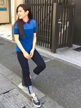LACOSTE 福岡天神店 MAMIさんの(LACOSTE ラコステ)を使ったコーディネート