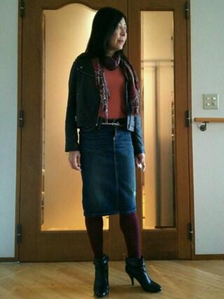 Yurikoさんの「デニムスカート(DSQUARED2|ディースクエアード)」を使ったコーディネート