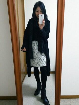 Yurikoさんの「ニットツイード×レースボンディングスカート(NATURAL BEAUTY BASIC|ナチュラルビューティベーシック)」を使ったコーディネート