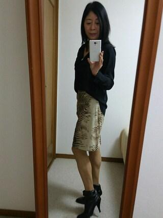 Yurikoさんの「エアリーロングカフスシャツ(GU|ジーユー)」を使ったコーディネート