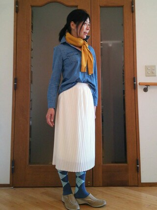 Yurikoさんの「UVカットクルーネックカーディガン(GU|ジーユー)」を使ったコーディネート