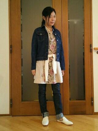 Yurikoさんの「花柄ワンピース(COMPTOIR DES COTONNIERS|コントワー・デ・コトニエ)」を使ったコーディネート