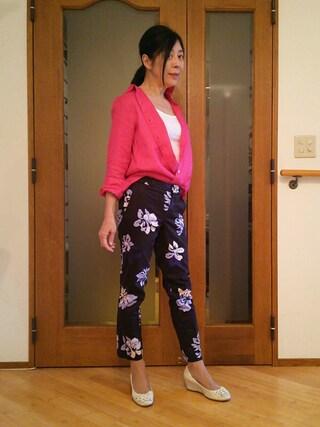 Yurikoさんの「フレンチリネンシャツ(GU|ジーユー)」を使ったコーディネート