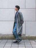 坂本海斗 is wearing ZARA