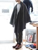 「道中合羽 江戸 明治時代 ジャパンヴィンテージ 藍染 絣 ケープ(VINTAGE)」 using this FUNS_FUKUSHIMA looks