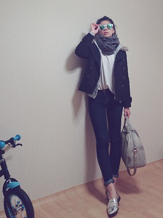 Myさんの「FOREVER 21 Pointed Faux Leather Loafers(Forever 21|フォーエバー トゥエンティーワン)」を使ったコーディネート