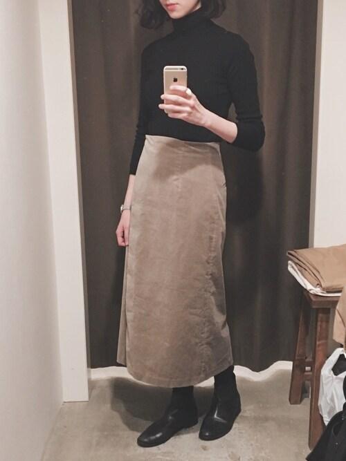 Ayaさんの「別珍ラップタイトスカート【niko and ...】(niko and...)」を使ったコーディネート