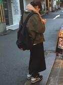 mikuさんの「WOMEN メリノブレンドリブスカート(ユニクロ ユニクロ)」を使ったコーディネート
