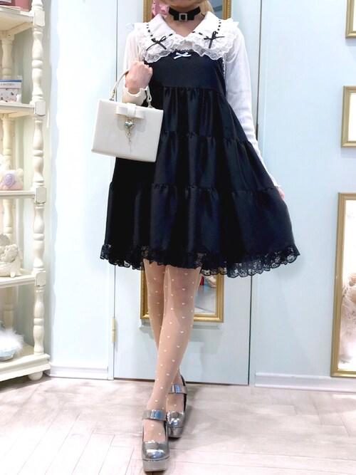 RoseMarie seoir officialさんの「ビーマインワンピースドレス(RoseMarie seoir)」を使ったコーディネート