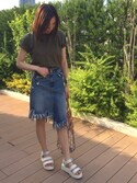 「【HANES】BEEFY パックTシャツ(HANES)」 using this yu--ka looks