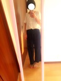 kimayuさんの「裾フリンジイージーデニムパンツ(CIAOPANIC TYPY|チャオパニックティピー)」を使ったコーディネート