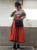 ひめもんさんの「ガチャベルフレアスカート(MURUA|ムルーア)」を使ったコーディネート