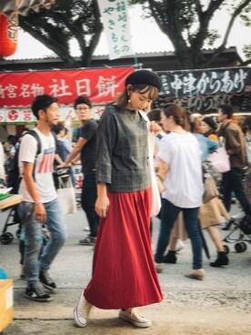 Green Parks|i_am_sakurakoさんの「・ギャザーフレアロングスカート(Green Parks)」を使ったコーディネート